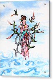 Chinese Painting  Acrylic Print by Phalakon Jaisangat