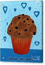 Chocolate Chip Cupcake Acrylic Print by Barbara Griffin