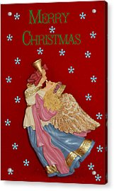 Christmas Angel Acrylic Print by Aimee L Maher Photography and Art Visit ALMGallerydotcom