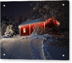 Christmas House  Acrylic Print by Roman Rodionov