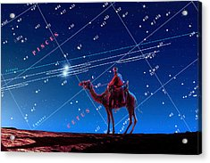 Christmas Star As Planetary Conjunction Acrylic Print by Detlev Van Ravenswaay