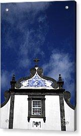 Church In Azores Islands Acrylic Print by Gaspar Avila
