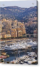 City Harbor At Dawn Acrylic Print by Jeremy Woodhouse