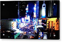 City Lights Acrylic Print by Val Oconnor