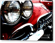 Acrylic Print featuring the digital art Classic Vette by Tony Cooper