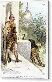 Cleveland Cartoon, 1884 Acrylic Print by Granger