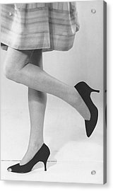 Close-up Of Woman's Legs Acrylic Print by George Marks