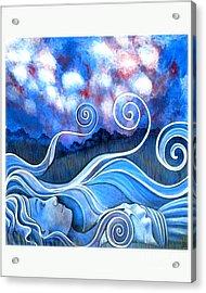 Cloud Watching Acrylic Print by Monica Furlow