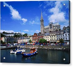 Cobh Cathedral & Harbour, Co Cork Acrylic Print by The Irish Image Collection