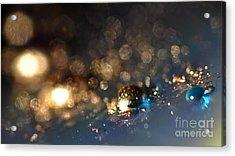 Color Drops Acrylic Print by Sylvie Leandre