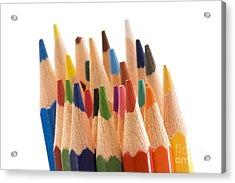 Colorful Pencils Acrylic Print by Soultana Koleska