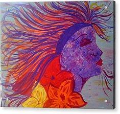 Coloured Beauty Acrylic Print by Judi Goodwin
