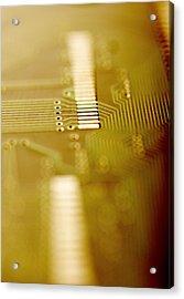 Computer Circuit Board Acrylic Print by Tim Vernonlth Nhs Trust