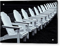Acrylic Print featuring the photograph Congress Hall Chairs by Tom Singleton