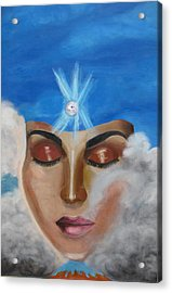 Acrylic Print featuring the painting Contemplation by Diana Riukas
