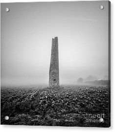 Cornish Mine Chimney Acrylic Print by John Farnan