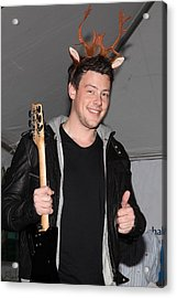 Cory Monteith At In-store Appearance Acrylic Print by Everett