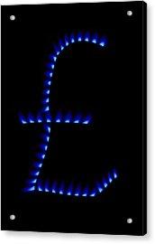 Cost Of Gas, Conceptual Image Acrylic Print by Victor De Schwanberg