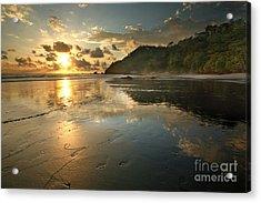 Costa Rican Beach At Sunset Acrylic Print by Matt Tilghman