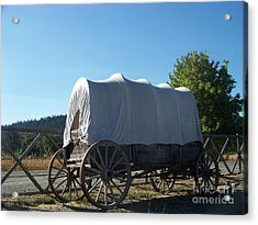 Covered Wagon Acrylic Print by Charles Robinson