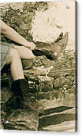 Cowboy Boots Acrylic Print by Joana Kruse