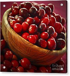 Cranberries In A Bowl Acrylic Print