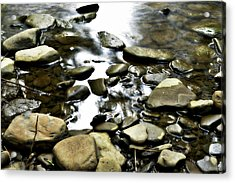 Creekstones Acrylic Print by Mary Frances