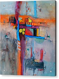 Crossroads Acrylic Print by Ron Stephens