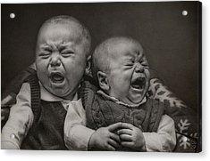 Cry Babies Acrylic Print
