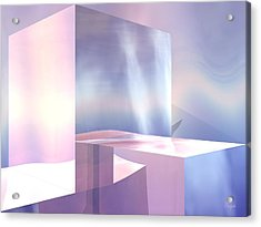 Acrylic Print featuring the digital art Cubes by John Pangia
