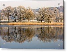 Cumbria, England Lake Scenic With Acrylic Print by John Short