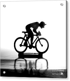Cyclist Acrylic Print by Bernard Jaubert