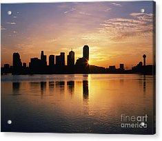 Dallas Skyline At Dawn Acrylic Print