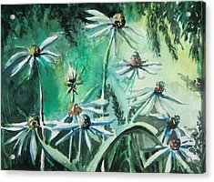Dancing With Daisies Acrylic Print by Mindy Newman
