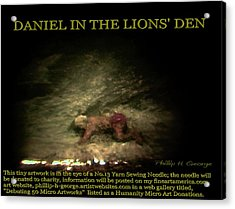 Daniel In The Lion's Den Info Photo No.1  Acrylic Print