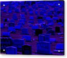 Dark Cemetery Acrylic Print by Jose Lopez