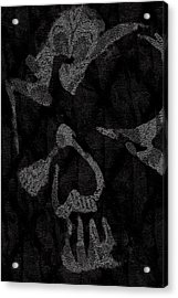 Dark Skull Acrylic Print by Roseanne Jones