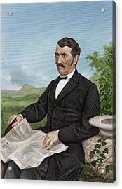 David Livingstone, Scottish Explorer Acrylic Print by Maria Platt-evans