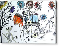 Day Of The Dead Dog Park Acrylic Print