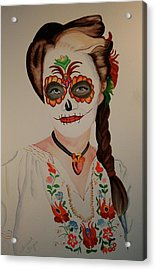 Day Of The Dead Acrylic Print by Teresa Beyer