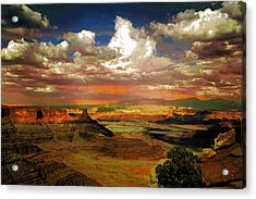 Dead Horse Point Canyon Acrylic Print by Carrie OBrien Sibley