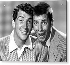 Dean Martin And Jerry Lewis, C. Early Acrylic Print by Everett