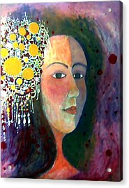 Acrylic Print featuring the painting Debutante by Monica Furlow