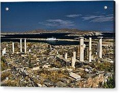 Delos Island Acrylic Print by David Smith