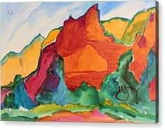 Desert Mountains Acrylic Print