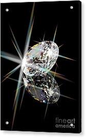 Diamond Acrylic Print by Atiketta Sangasaeng