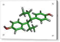 Diethylstilbestrol Drug Molecule Acrylic Print by Dr Tim Evans