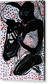 Acrylic Print featuring the painting Dinka Bride by Gloria Ssali