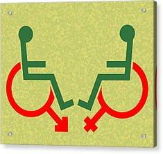 Disability Sexuality, Conceptual Artwork Acrylic Print by Stephen Wood