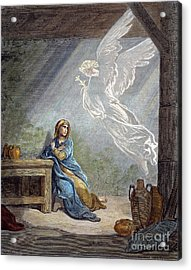 Dor�: The Annunciation Acrylic Print by Granger